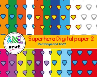 Superhero digital paper