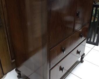 Art Deco cherrry low rise dresser wet bar side board childs dresser 1940 1930