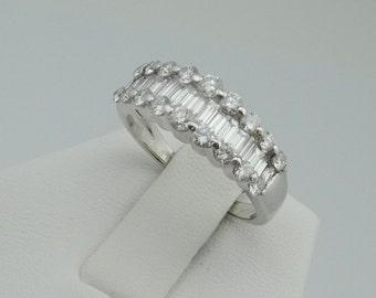 Dazzling Diamonds in 14K White Gold Band #WGDRSBB-B1