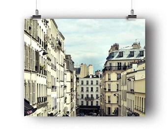 Paris Photo, Montmartre Rooftops, Paris Photography, Fine Art Print, Wall Art, Decor, French Buildings, Photography Print, 8 x 10
