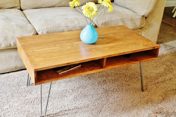 Items Similar To Coffee Table Mid Century Modern Hairpin