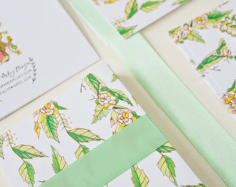Floral Stationery (Set of 8)