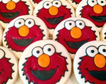 Elmo Decorated Sugar Cookies