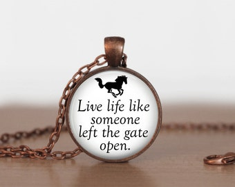 Horse lover Pendant Necklace or Keychain