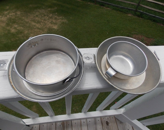 Boy Scouts of America marked mess kit with BSA marked case vintage