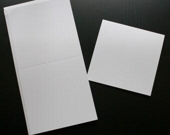 "4 3/4"" Square Pre-Scored White Cards (25 per pack)"