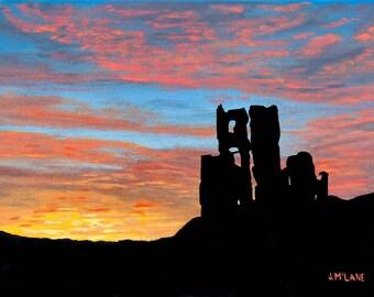 Limited Edition Fine Art Giclee Print Corfe Castle