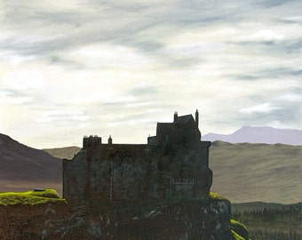 Limited Edition Fine Art Giclee Print of Duart Castle, Isle of Mull, Scotland. Home of the Clan MacLean