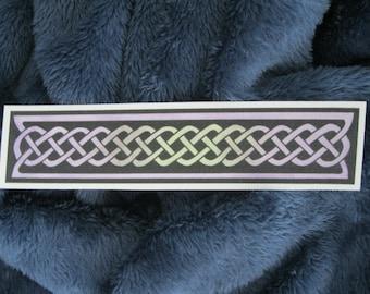 Handpainted Watercolor Bookmark Celtic Knot