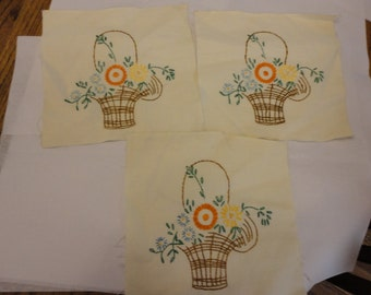 quilt blocks embroidered baskets