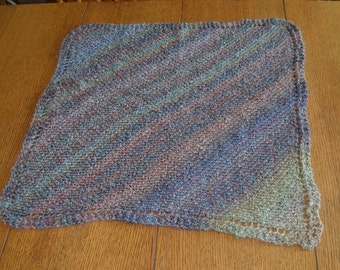 Knitted Baby Blanket made with Painted Desert Homespun Yarn