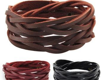 axy Leather wrap bracelet LWIC12!  Leather Bracelet