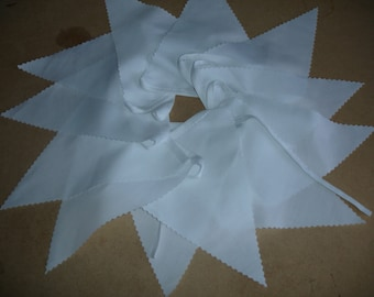 White Bunting for weddings, christenings baby shower.( BUY 3 GET 1 x 16ft FREE offer ends midnight 25th January 2018)