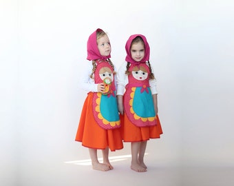 Halloween Russian doll costume, Christmas gift, girl costume, children costume, matryoshka costume, Halloween costume children girl,