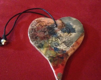 Heart Shaped HEART ART Christmas Ornament by Get UR heart on!