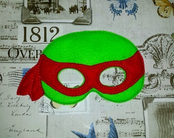 Ninja turtle hero inspired mask ITH Project In the Hoop Embroidery Design Costume, Cosplay, Fancy dress, Masquerade, Photo booth, Prop.