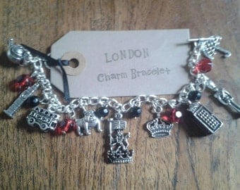 London inspired Charm Bracelet Watch