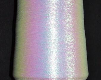 1 bobine 0.5 kg fil de métalloplastique irise Nm 83 fine 83.000 m/kg sur cone