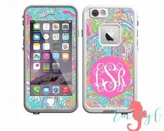 Monogrammed Lilly Pulitzer LifeProof Case Skin | Custom LifeProof Decal | iPhone 7, iPhone 7 Plus, iPhone 6 Plus, iPhone 6, iPhone 5s