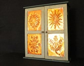 Handmade Four Seasons Embossed Copper Mini Cabinet - Spring Summer Autumn Fall Winter