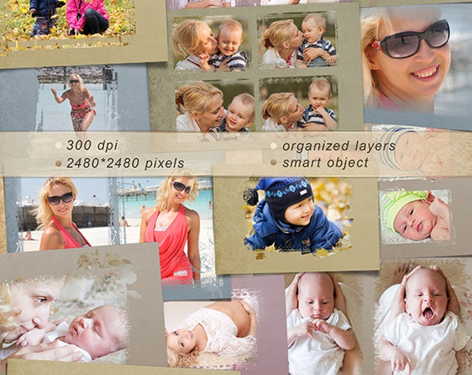 Photo Masks - Digital Scrapbook Overlays - Personal Use. Photo Book. Photo album. Collection.
