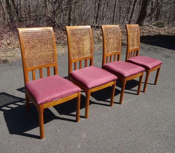 Thomasville Dining Room Chairs: Set 4 Thomasville Oak Dining Chairs W/ By RIDGEFIELDTREASURES