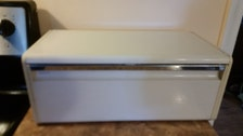 1950 S Cream Ivory Breadbox Vintage Breadbox Metal