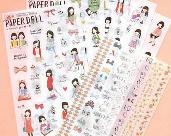 Paperdoll stickers