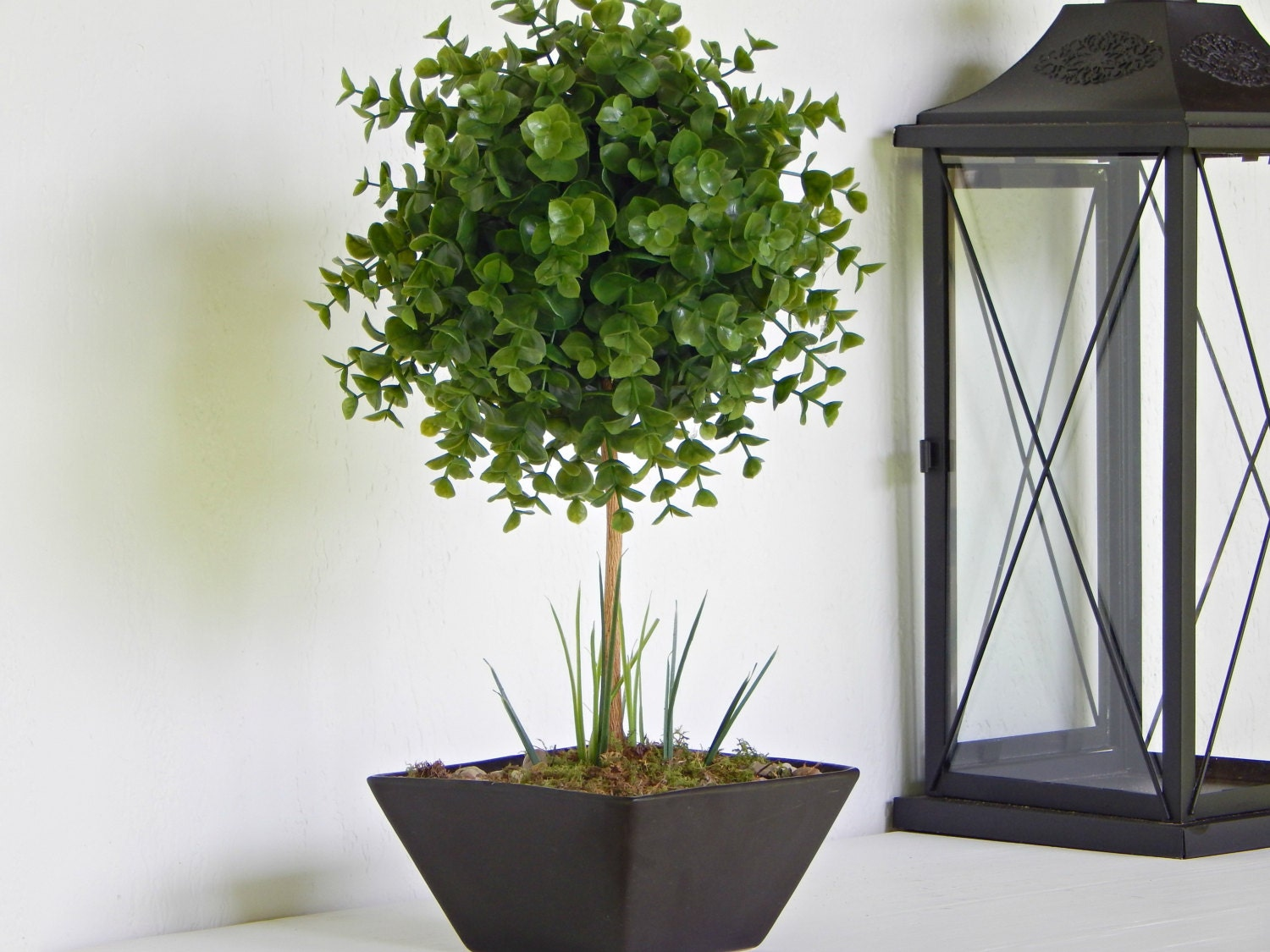 artificial topiary tree topiaries fake small by. Black Bedroom Furniture Sets. Home Design Ideas