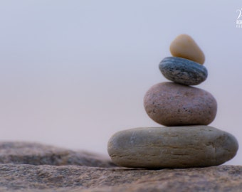 Photo of some rocks by the beach, picture of rocks, rocks by the ocean, beach cottage decor