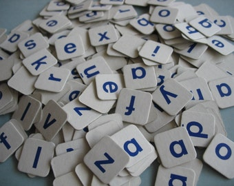 200+ cardboard letters for scrapbooking, journaling, crafting - bulk paper scrabble game tiles