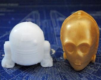 Handmade Droid Soaps – Star Wars, R2D2, C3PO, Christmas gift, stocking gift, Novelty