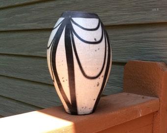 """11"""" Naked raku vase."""