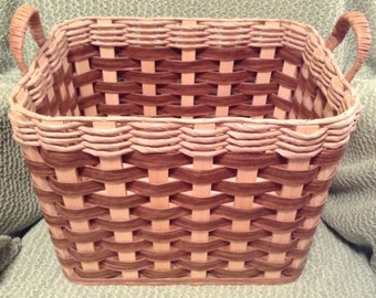 Hand Woven Storage/Organizer Basket -For Newspapers, Magazines, Toys, Clothing, Shoes, etc