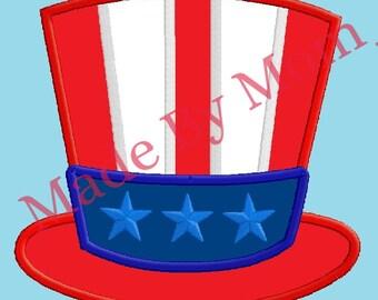 Uncle Sam's Hat Applique
