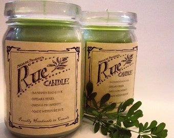 Organic Rue Magic Spell Candle