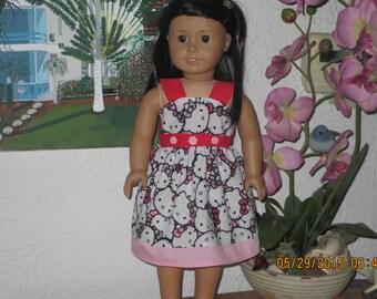 Hello kitty  American girl doll dress