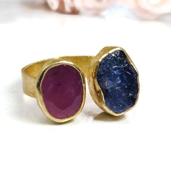 sterling silver handmade ring bezel setting gemstone
