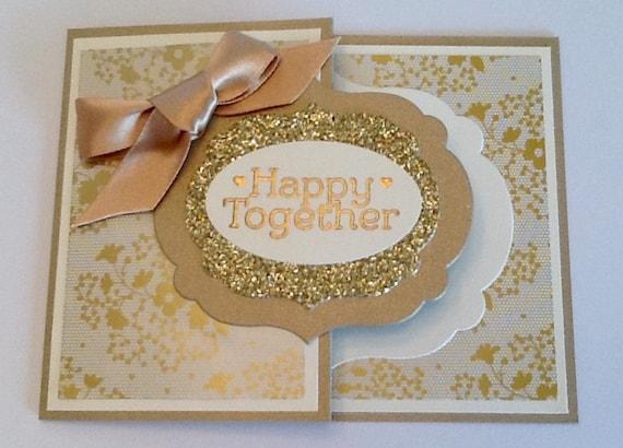 Gold Wedding Gift Card HolderHand Stamped Money EnvelopeBridal ...