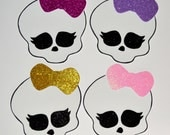 monster high skull foam foam cut out( set of 3)