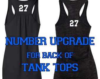 Number Upgrade For Back Of Tank Tops