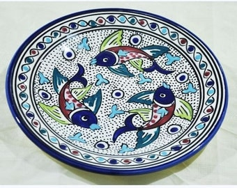 Hand Painted ,Oven,Microwave, dishwasher Safe Plate