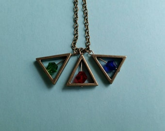 Zelda-Inspired Triforce Charm Necklace