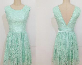 Lace Bridesmaid Prom Dress,Mint Bridesmaid Dress,Turquoise Lace Prom Evening Dress,Bridesmaid Dress,Mint Lace Dress,Bridesmaid Dress