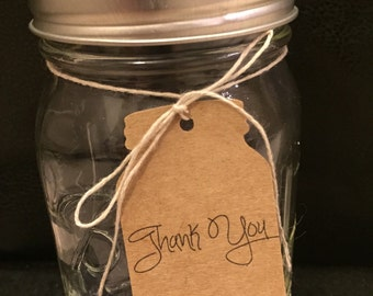 50 customized Thank You Jar Tags
