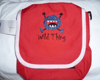 Monster Bag Embroidered Reporter Wild Thing Handbag Shoulder Bag