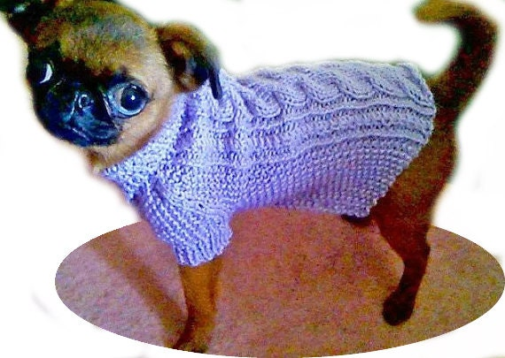 XXS knit Dog Coat Extra Small dog clothing by ...
