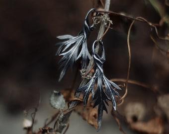 "Silver handmade earrings ""Black wormwood"""