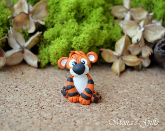 Custom tiger cake topper for Birthday, Baby shower, Wedding, Valentine's Day, Christening - Keepsake, Original gifts, Perfect gift idea