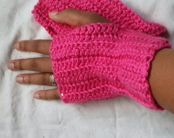 CozzyHands, fingerless gloves, crochet, handmade